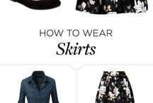 Fashion ~ How to wear skirts