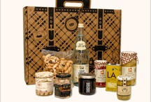 Spanish Suitcase Holiday Gift Ideas / Travel-inspired gourmet gift suitcases packed with one-of-a-kind Spanish seafood, spices, vegetables, meats, cheeses, chocolates and more.