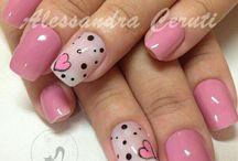 uñas.diseños rosa.