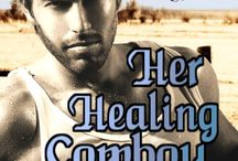 Book: Her Healing Cowboy / Holly's stay in Harland County Texas is limited. She's only there to help run her uncle's ice cream business while he recuperates from an operation. Her home is in Colorado. Her life is in Denver. Her dream job is in Denver but won't be if she doesn't get back before her leave of absence runs out. Everybody knows this, but apparently her heart and body didn't get the memo because they spark to life whenever her uncle's smoking, hot doctor is around.