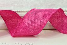 CottageCO: Burlap, Linen, Denim Look Ribbons