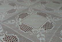 toalhas de mesa em croché