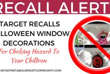 Recall Alert! Recalled Products Update / Watch out for recently recalled products that may affect your fast metabolism diet journey, weight loss, and health.