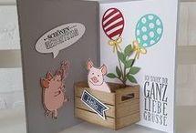Karten Glücksschweinchen