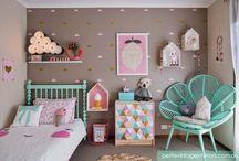 Poppy's pink / grey / mint room