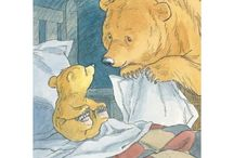 Barbara Firth - Little Bear / Enchanting illustrations by Barbara Firth from the classic children's books about Little Bear and Big Bear (Can't You Sleep Little Bear) by Martin Waddell.  Limited Edition Collector's Prints.