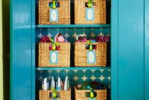 Organize with baskets / by Charlotte Steill