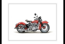 Harley Series / Paintings from my current and ongoing Harley Davidson series.