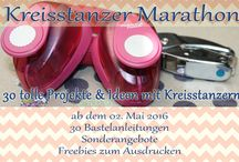 Kreisstanzer-Marathon / 30 Projekte & Ideen rund um den Kreisstanzer  mit Bastelanleitungen und Freebies zum Ausdrucken.