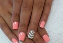 Nails / Nail ideas. Different colors. Acrylic nails.