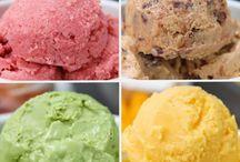 Dondurma meyvelı yogurtlu