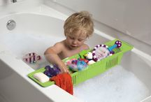 """Bath Time Fun for Baby / Bath time fun has never been so fun and organized!  The KidCo Bath Storage Basket is adjustable and fits most tubs. Divider panels fit where you want them. Includes set of """"fun-time"""" letters for baby! - See more at: http://www.kidco.com/product/bath/fun-time-bath-storage-basket/#sthash.40FYKrbQ.dpuf"""