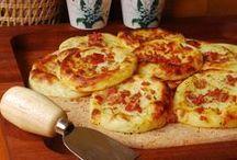 pastelitos de patata bacon y queso