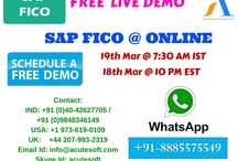 SAP FICO Online FREE DEMO from AcuteSoft with Real Time Scenario's