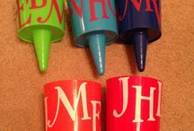 Ashley's Creations  / Items that i monogram and personalize for gifts! Comment if you'd like!:)