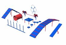 Dog Park Equipment / Parks aren't just for people.  We design and manufacture quality dog park equipment and agility training elements.  Create a competitive playground for pups.