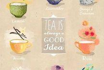 Tea, caffe and book