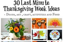 Thanksgiving Ideas for Kids / Are the kids bored at Thanksgiving? Here are great arts and crafts to help keep them busy.