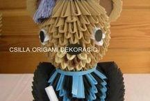 Csilla origami dekoráció / Origami dekorációim és ajándéktárgyaim www.csillaorigamidekoracio.com
