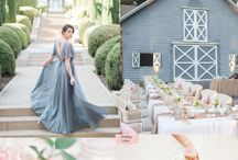 Wedding colors: pink & dusty grey/blue