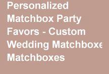 Personalized Matchbox Favors