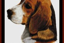Dog Breeds in Cross Stitch Patterns by Cross Stitch Collectibles / Dozens of cross stitch patterns of various dog breeds.  Designed by Kathleen George of Cross Stitch Collectibles