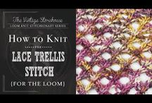 Loom knitting / Trellis stitch