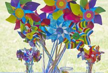 Carnival Party / GIOBAS Quality Italian Windmills for Parties & Events! Tiny, Daisy, Carnival & Rainbow Swirly are all part of the Party range. Available in a mix of colours & designs perfect for decorations & party favours........