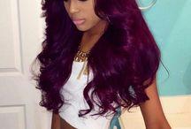 Burgundy bordeaux hair
