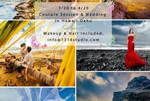 Hawaii Wedding and Engagement Photos - 夏威夷婚纱摄影婚礼跟拍 / Hawaii Oahu Island (Honolulu area) wedding, Chinese prewedding, and engagement photos by 1314 STUDIO. 景色迷人的夏威夷婚纱摄影或者婚礼跟拍