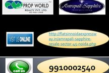 Amrapali Sapphire Resale (9910002540) Price Noida Sector 45, Ready to Move Flats