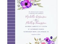 Top 25 Ultra Violet Wedding Invitations / Pantone's color of the year is sumptuous ultra violet.  I've collected the top 25 wedding invitations featuring  Ultra Violet flowers.  Wedding planners at Vogue have announced that flowers are back in a big way for weddings.  Choosing an invite with the gorgeous combination of color and floral pattern will catch the eyes of everyone on your list!  I've also shared some pretty ultra violet wedding invites that don't have a floral design.  All pretty sweet! www.seasonalshowers.com