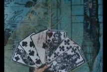 ATC - Artist Trading Cards / Kleine Kunstwerke erstellt von Daniela Rogall mit den verschiedensten Materialien