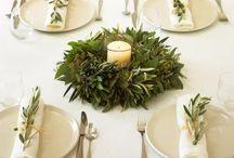 Greek table settings