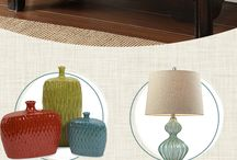 Side table colorful rustic