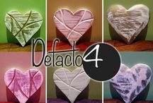 Handmade Gifts: Defacto4 Love Hearts / Great for Valentines Day and any other lovely event and occasion. Hand made wood wooden hearts. #ValentinesDay #Handmade #Gifts