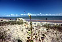 La Tranche sur Mer / Les principales plages de la Tranche sur Mer avec du kitesurf du soleil, le bord de mer et la Vendée.