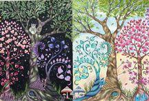 Jardim e floresta secreto e encantado