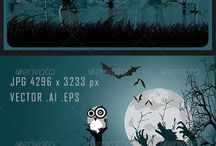 Halloween Background / Vector