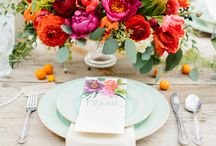 Wedding Tables - Bright and Bold