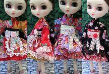 kimono BJD / SD,Pullip, DAL,Blythe,Monster high,yosd,MSD