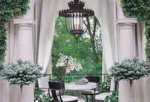 Gorgeous gardens and patios .