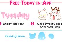 Geemoji Freebies / We will be giving out a FREE Geemoji Font and a FREE Geemoji Sticker every day until 4/25!