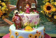 Torta Máša a medveď