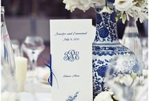 GET THE LOOK - blue and white wedding theme