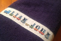 Cross stitch towels