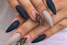 маникюр длинные ногти