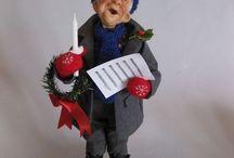 Christmas Art Dolls by NIADA artists