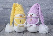 Снеговики фото