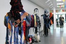 Fashion Monsters / Quirky, unnerving and striking… just a few of the words used to describe these #fashionmonsters at our #KnightsPark campus, created by our fashion students out of recycled materials as part of a sustainable design project.